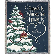 "Personalized ""Home is Where the Heart Is"" Throw"