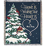 Personalized Home is Where the Heart Is Throw