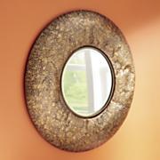 Hammered Metal Mirror