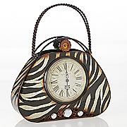 Zebra Hand Bag Clock