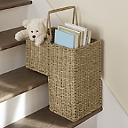 seagrass stair basket