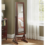 floor standing cheval mirror jewelry armoir
