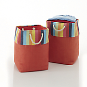 Set of 2 Multi Colored Storage Baskets