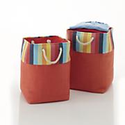 Set of 2 Multi Colored Storage Baskets