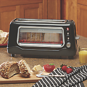2 slice glass window toaster by dash