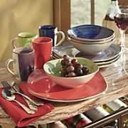 12-Piece Color Vibes Square Dinnerware Set