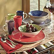 12-Piece Color Vibes Square Dinnerware Set