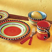16 pc  pueblo springs dinnerware set