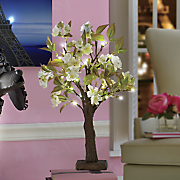 lighted peach blossom tree
