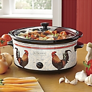 6 5 qt  rooster slow cooker