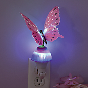 butterfly fiber optic night lamp