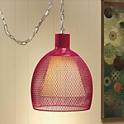 metal mesh swag lamp