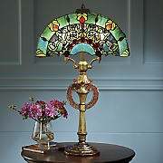 Opulent Stained Glass Table Lamp