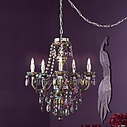 wireless iridescent chandelier