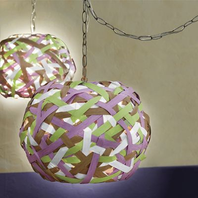 Woven Paper Swag Lamp