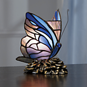 stained glass butterfly table lamp