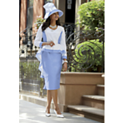 bianca hat and brielle skirt suit