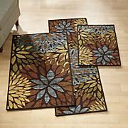 3 pc  cleopatra rug set