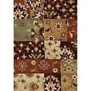 floral scape shag rug