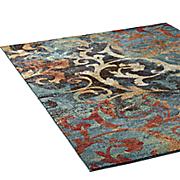 watercolor scroll rug
