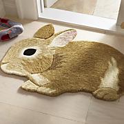 rabbit cutout rug