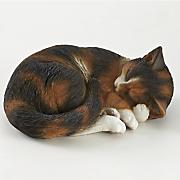 sleeping kitten figurine