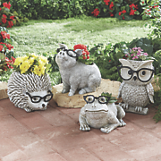 funky glasses animal planter