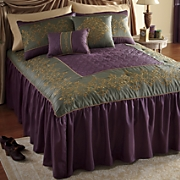 chadwicke skirted comforter set  pillows and window treatments