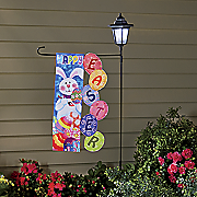 solar stake and easter flag