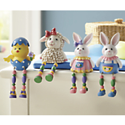 4 pc  easter shelf sitters set