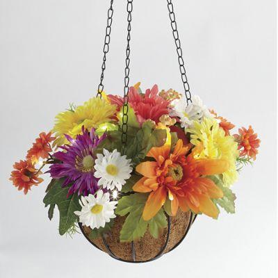 Bright Colors Hanging Lit Basket