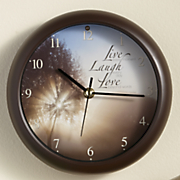 Live, Laugh, Love Inspirational Clock