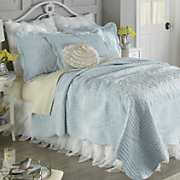 Emily Microvelvet Quilt and Bouquet Ruffled Bedding Accessories