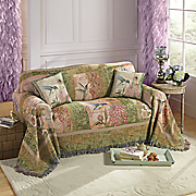 wings and blossoms furniture throw