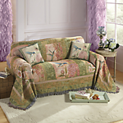 wings and blossoms furniture throw and pillow