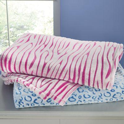 Embossed Plush Animal-Print Blanket