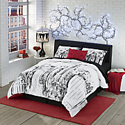 ny ny comforter set and pillow