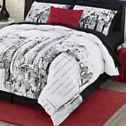 ny ny comforter set and pillow