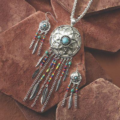 Dreamcatcher Necklace/Earring Set