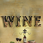 4-Piece Wine Cork Holder Metal Letter Set