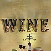 4 pc  wine cork holder metal letter set