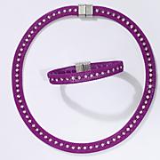 Crystal Mesh Necklace and Bracelet Set