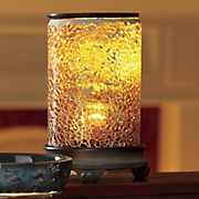 cracked amber lighted wax warmer