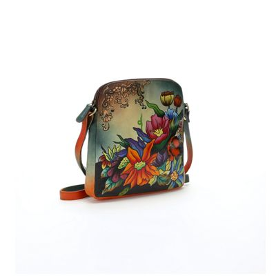Hand-Painted Adoring Flowers Bag