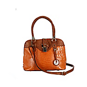 lucy croco embossed leather bag by marc chantal