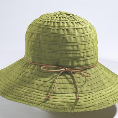 Suede Tie Floppy Hat
