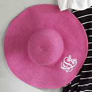 personalized wide brimmed hat