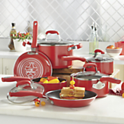 10 pc  nonstick aluminum cookware set by guy fieri