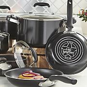 10 pc  nonstick aluminum cookware set by guy fieri