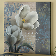 floral scroll canvas